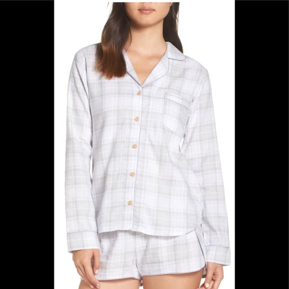 ab8125a782 Ugg milo check flannel short pajamas. NWT XL
